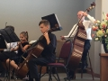 Matthew on cello and Roger on Contrabass
